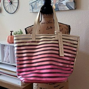 Victoria's Secret Ombre Gold Pinks Tote Bag Beach